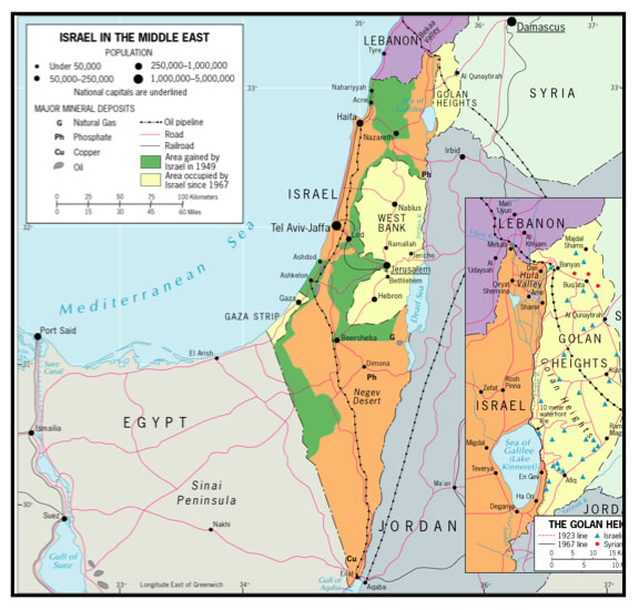 The Map of Israel is Complicated Or is it Regional GeogBlog