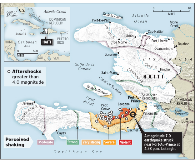 The Haiti Earthquake January 12 2010 Regional Geogblog
