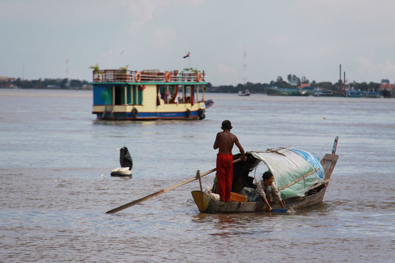 At the confluence of the Mekong and Tonle Sap Rivers, Phnom Penh.