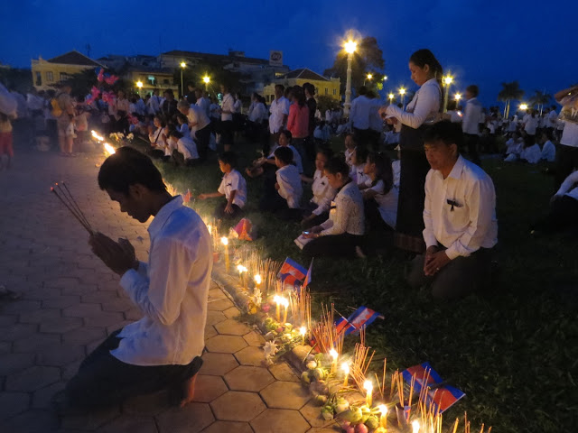 Remembering the late King Father Norodom Sihanouk, in front of the Royal Palace in Phnom Penh.