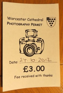 Prayer is free, but photograph in the cathedral will cost you $4.60.